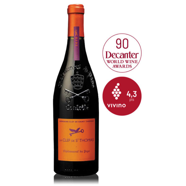 In Vino Frances Veritas - La Clef de St Thomas - Châteauneuf-du-pape - vino tinto francés -garnacha & syrah