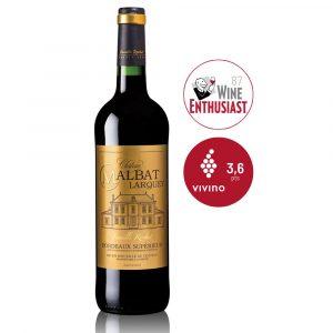 IVFV Château Malbat Larquey - vino tinto Francés AOP Bordeaux Superior