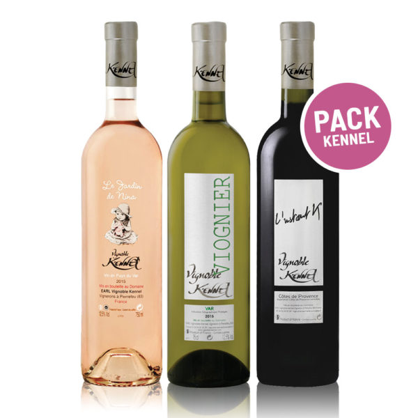 In vino Frances Veritas - Pack Kennel - Bodega Kennel - Côtes de Provence - vino Francés blanco - rosado - tinto