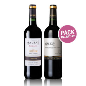 Pack #2 Malbat-Optimus & authentique Merlot & Cabernet sauvignon - Bordeaux Superior