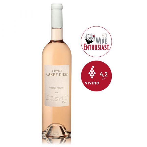 In Vino Frances Veritas - Rosé Chateau - bodega Carpe Diem - Vino Francés Rosado - Côtes de Provence - Organico