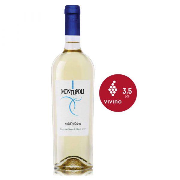 IVFV Montupoli Pecorino abruzzo Vino blanco italiano CANTINA MIGLIANICO