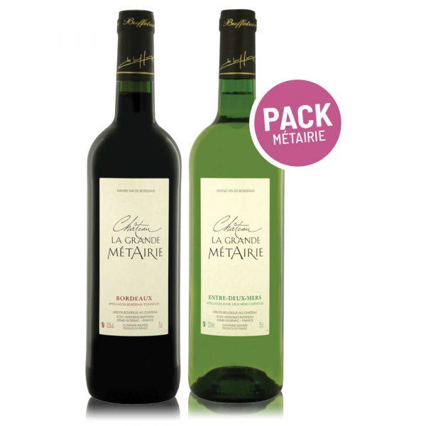 Pack Grande Métairie - Bordeaux - botellas tinto & blanco