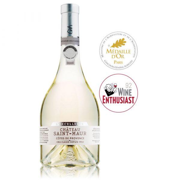 in vino frances veritas - excellence blanco chateau Saint-Maur Grand Cru 100% Rolle